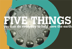 Five things everyone can do to save the world